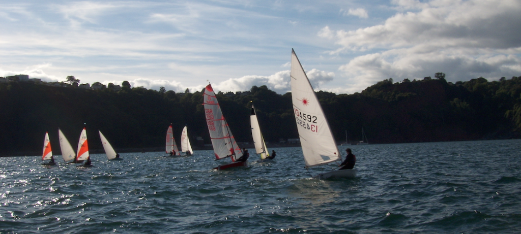 Sailing Boats At Babbacombe Sailing Club
