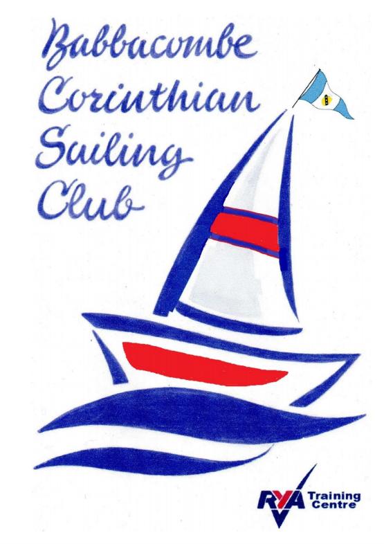 Brochure for Babbacombe Corinthian Sailing Club