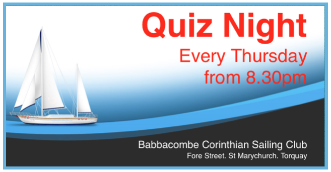 Quiz night at babbacombe sailing club