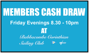 Members Cash Draw – Every Friday