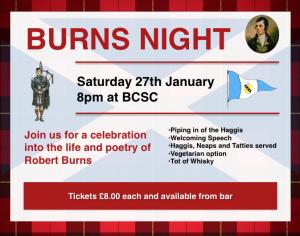Burns Night – 27th Jan