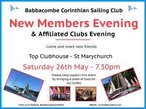 New Members Evening – 26th May