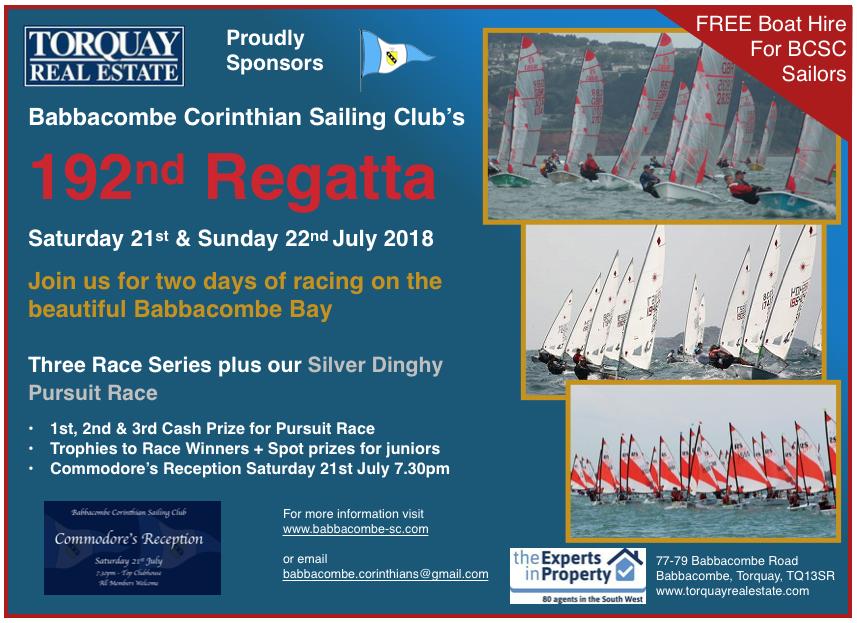 This Week @ BCSC - Babbacombe Corinthian Sailing Club