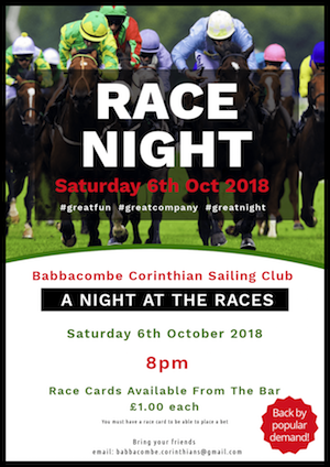 Race Night 6th October
