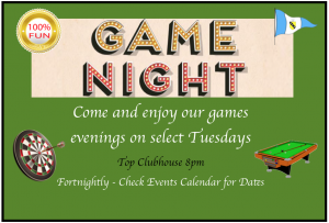 Games Night – Tuesdays (Fortnightly)