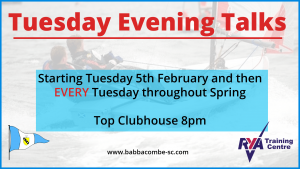 Tuesday Evening Talks – Starting 5th Feb