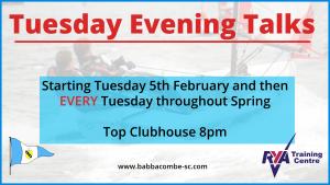 Tuesday Evening Talks – Starting 5th Feb