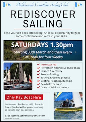 Rediscover Sailing – Saturdays