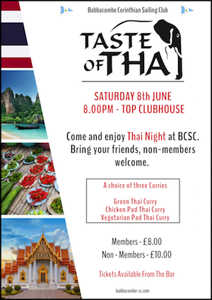 Thai Night – 8th June