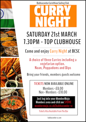 Curry Night 21st March